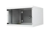 Szafa wisząca dwuczęściowa BKT STANDARD 6U, 600/500/330 szer./gł./wys. mm., RAL 7035 ( konstrukcja spawana - nośność 50 kg )
