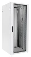 Szafa stojąca BKT FlatCab, 42U, 600/780/1980, szer./gł./wys. mm. drzwi blacha/szkło, RAL 7035 ( składana Quick Rack )