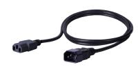 Kabel zasilający BKT - gniazdo IEC 320 C13 10A, wtyk IEC 320 C14 10A, 3 x 1,0 mm2 czarny 2m