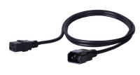 Kabel zasilający BKT - gniazdo IEC 320 C19 16A, wtyk IEC 320 C14 10A, 3 x 1,0 mm2 czarny 3m