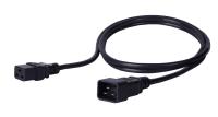 Kabel zasilający BKT - gniazdo IEC 320 C19 16A, wtyk IEC 320 C20 16A, 3 x 1,5 mm2 czarny 2m