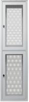"""Szafa kolokacyjna 19"""" 2x23U 46U 600/1000/2100, szer./gł./wys. mm. drzwi przednie i tylnie perforowane dwuczęściowe RAL7035"""