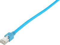 Patchcord BKT F/UTP kat.5 PVC niebieski RJ45 zalewany 1m