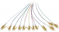 Pigtail BKT LC/PC OM3 easy strip 12 color set 2m