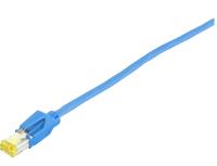 Patchcord BKT S/FTP kat.6A PiMF niebieski DRAKA + HIROSE LSHF 1m