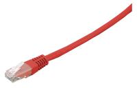 Patchcord BKT U/UTP kat.6 LSOH czerwony RJ45 zalewany 0,5m