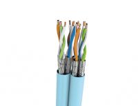 Kabel U/FTP LSHF kat. 6A BKT 585 DUPLEX drut niebieski 23AWG (500m)
