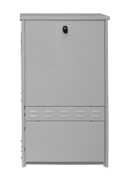 Zewnętrzna uliczna szafka dystrybucyjna BKT 580/240/1250 (szer/gł/wys) płyta montażowa RAL 7035