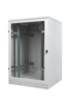 Szafa stojąca z cokołem BKT 24U, 600/600/1210, szer./gł./wys. mm drzwi blacha/szkło, RAL 7035 ( konstrukcja spawana - nośność 600 kg )