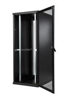 """Szafa serwerowa SRS, BKT 42U, 600/1000/1980, szer./gł./wys. mm., drzwi przednie i tylne jednoskrzydłowe z blachy perforowanej ( identyczne ), RAL 7021 czarny, """"TOP III"""" ( konstrukcja spawana - nośność 1000 kg )"""